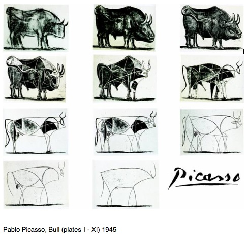 Picasso Bull lithographs