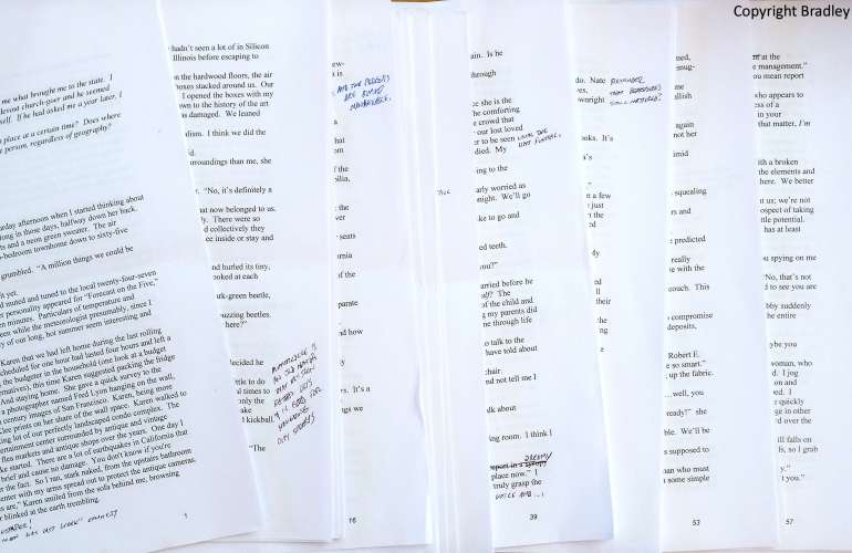 Pages of a manuscript printed from a word processor