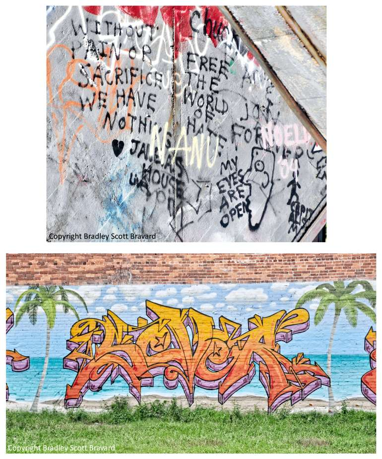 2 examples of graffiti in Tampa, Florida