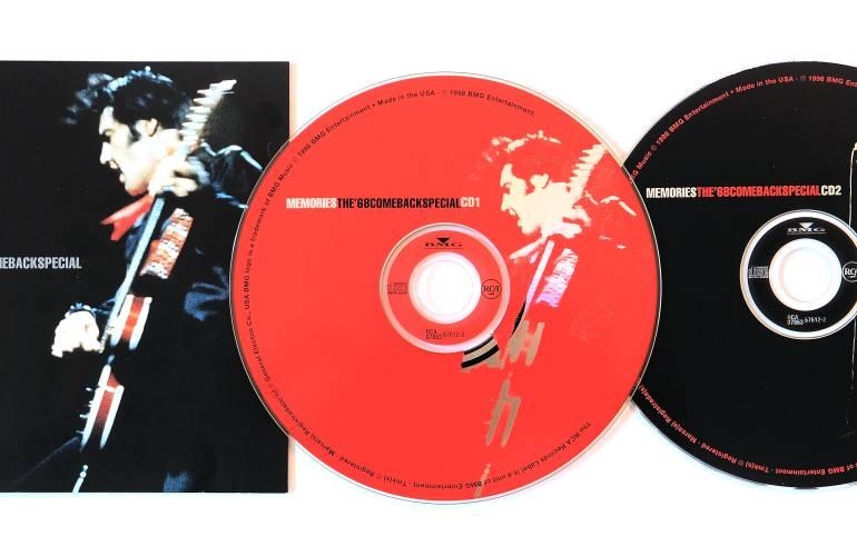 "Elvis Presley compact disc recording ""Memories: The 68 Comeback Special"""