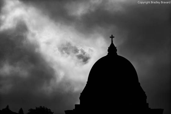 Dome of Saint Joseph's Oratory of Mount Royal in Montreal, Canada