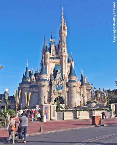 Cinderella's Castle at Walt Disney World in Orlando, Florida