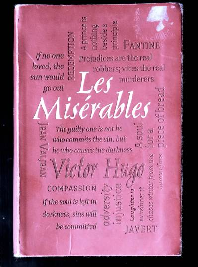 Front cover of print edition of Les Miserables by Victor Hugo.