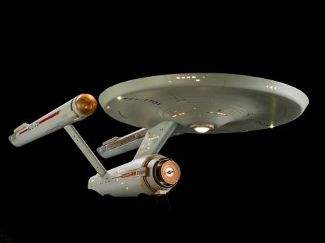 Photo of U.S.S. Enterprise model from Star Trek: The Original Series