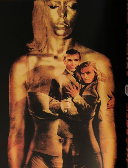 Poster art for the 1964 movie Goldfinger