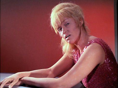 Screenshot of Eve from Star Trek episode Mudd's Women