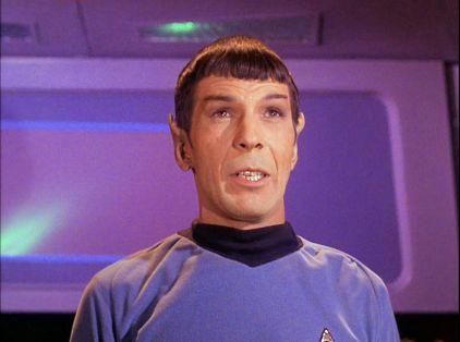 Screenshot of Spock from Star Trek episode Mudd's Women