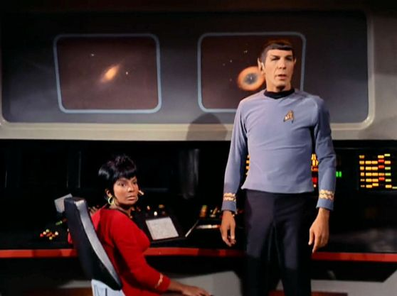 Screen shot from Star Trek episode