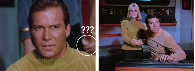 Screen shots of bridge from Star Trek episode