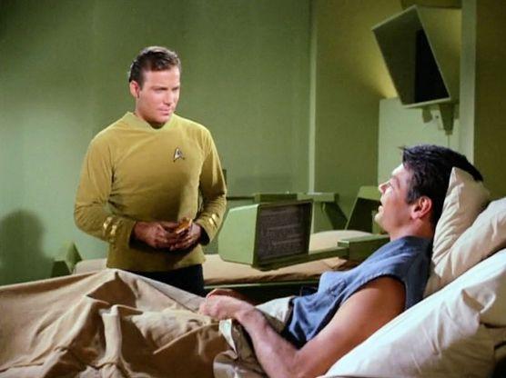 Screen shot from Star Trek episode