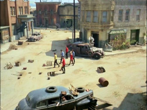 Image from Star Trek episode Miri showing ghost town set