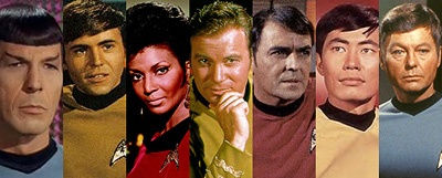 Photo-collage of cast from Star Trek The Original Series