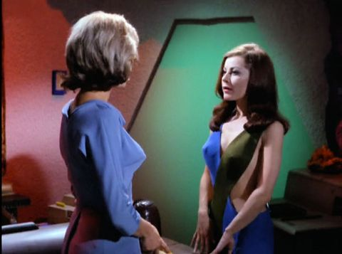 Image from Star Trek episode What Are Little Girls Made Of showing Chapel and Andrea