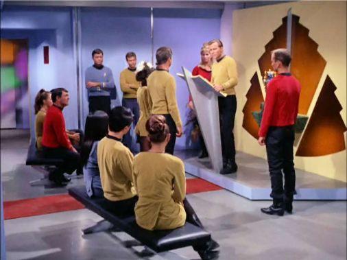 Wedding scene from Star Trek episode Balance of Terror